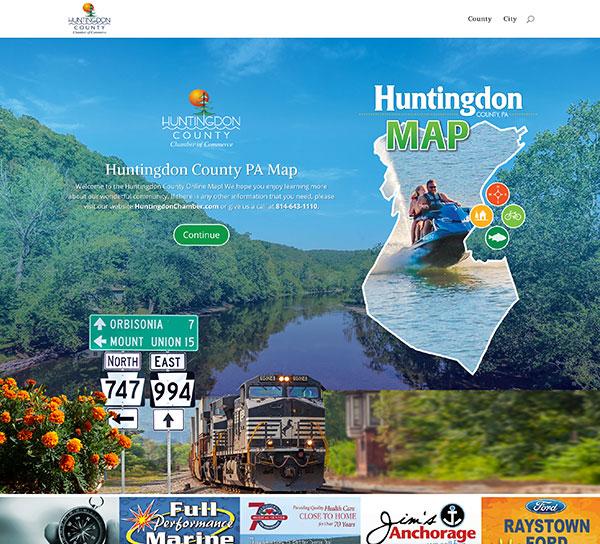 Huntingdon County Map